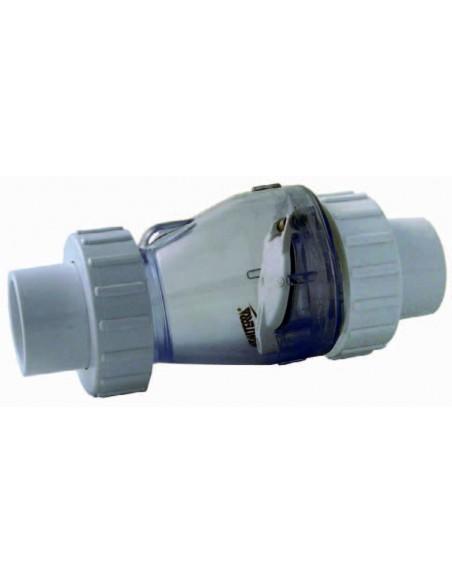 Válvula retención 50mm Valterra transparente