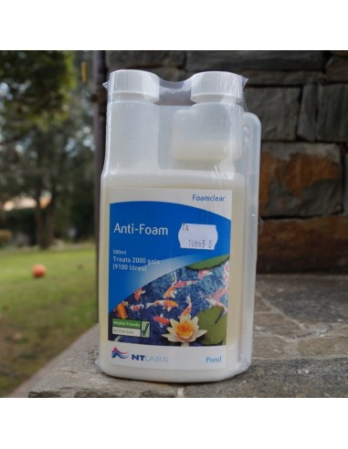 Antifoam 500ml para estanques for Estanque agua 500 litros