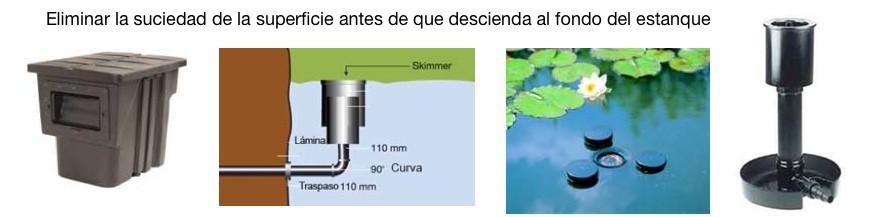 Skimmers para estanques